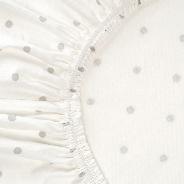 """LENAST Crib fitted sheet, dotted/moon, 28x52 """""""