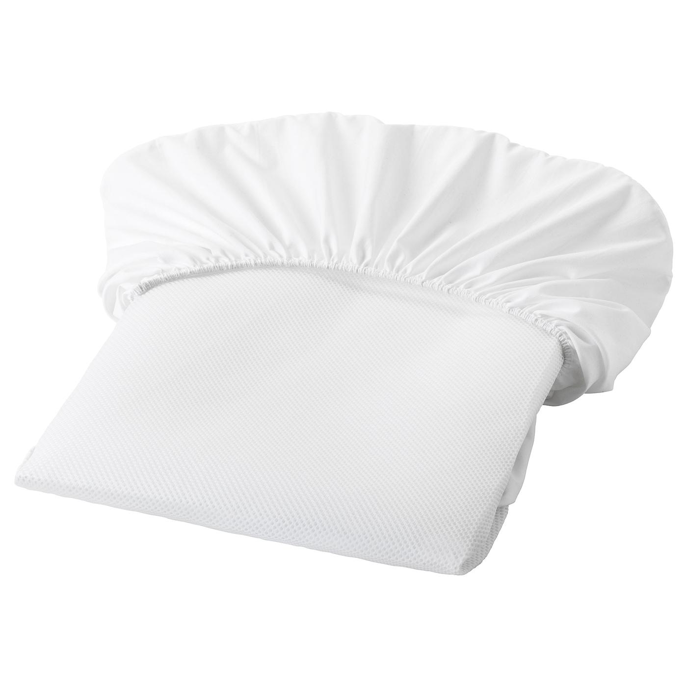 Ikea LENAST Mattress protector, white, 27 1/2x52