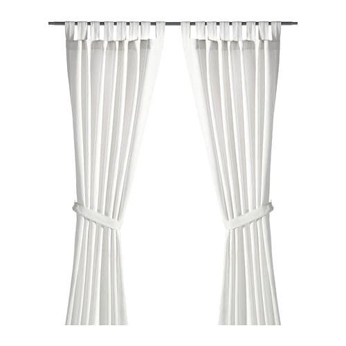 LENDA Curtains with tie-backs, 1 pair