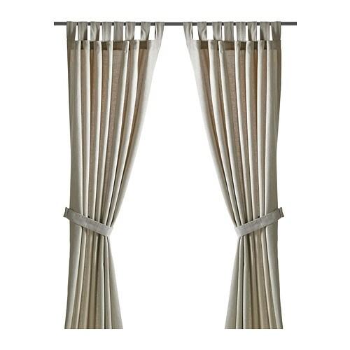 LENDA Curtains with tie-backs, 1 pair - 140x250 cm - IKEA
