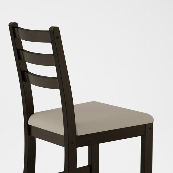 LERHAMN Chair, black-brown/Vittaryd beige