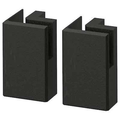 "LERHYTTAN Corner leg for decorative toekick, black stained, 4 1/4 "" 2 pack"