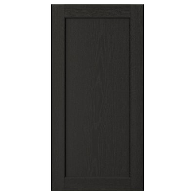"LERHYTTAN Door, black stained, 15x30 """