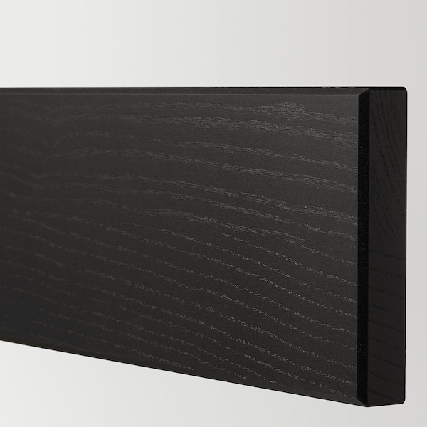 "LERHYTTAN Drawer front, black stained, 30x5 """