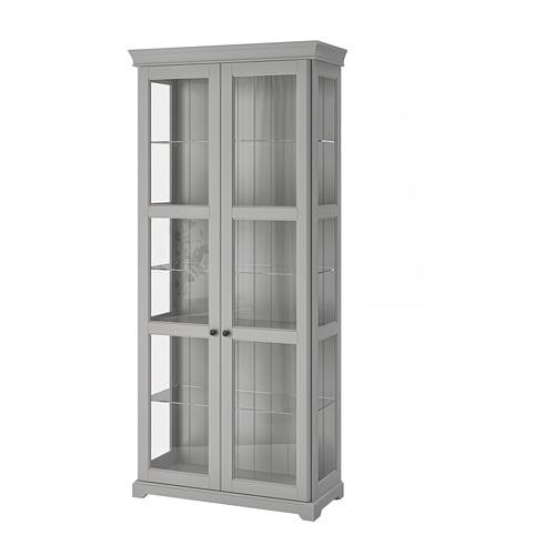 Liatorp Glass Door Cabinet Gray Ikea