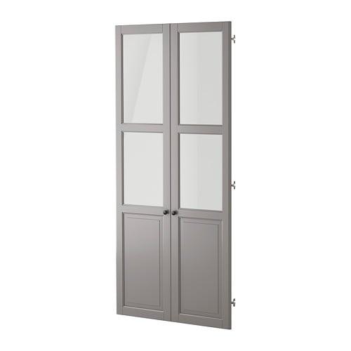 Liatorp Panelglass Door Gray Ikea
