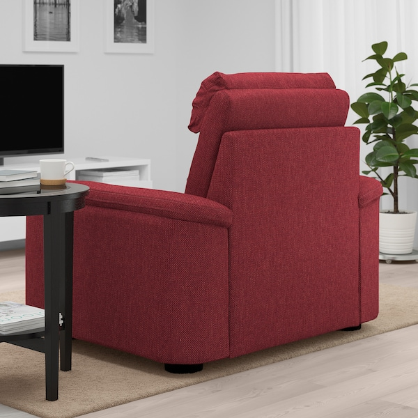 LIDHULT Armchair, Lejde red-brown