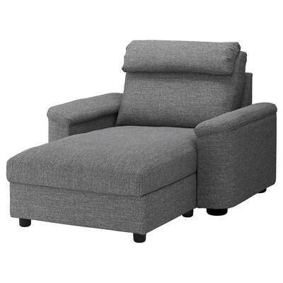 LIDHULT Chaise, Lejde gray/black