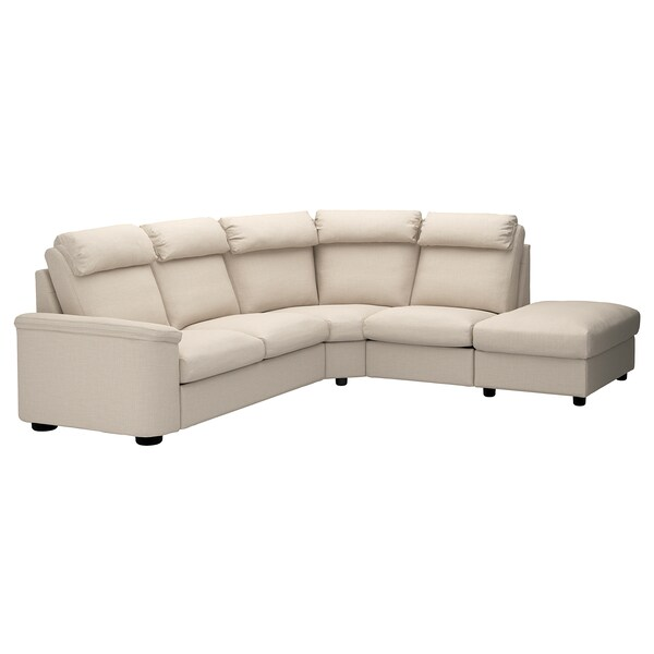 "LIDHULT sectional, 5-seat corner with open end/Gassebol light beige 40 1/8 "" 29 7/8 "" 38 5/8 "" 108 1/4 "" 99 5/8 "" 2 3/4 "" 20 7/8 "" 17 3/4 """