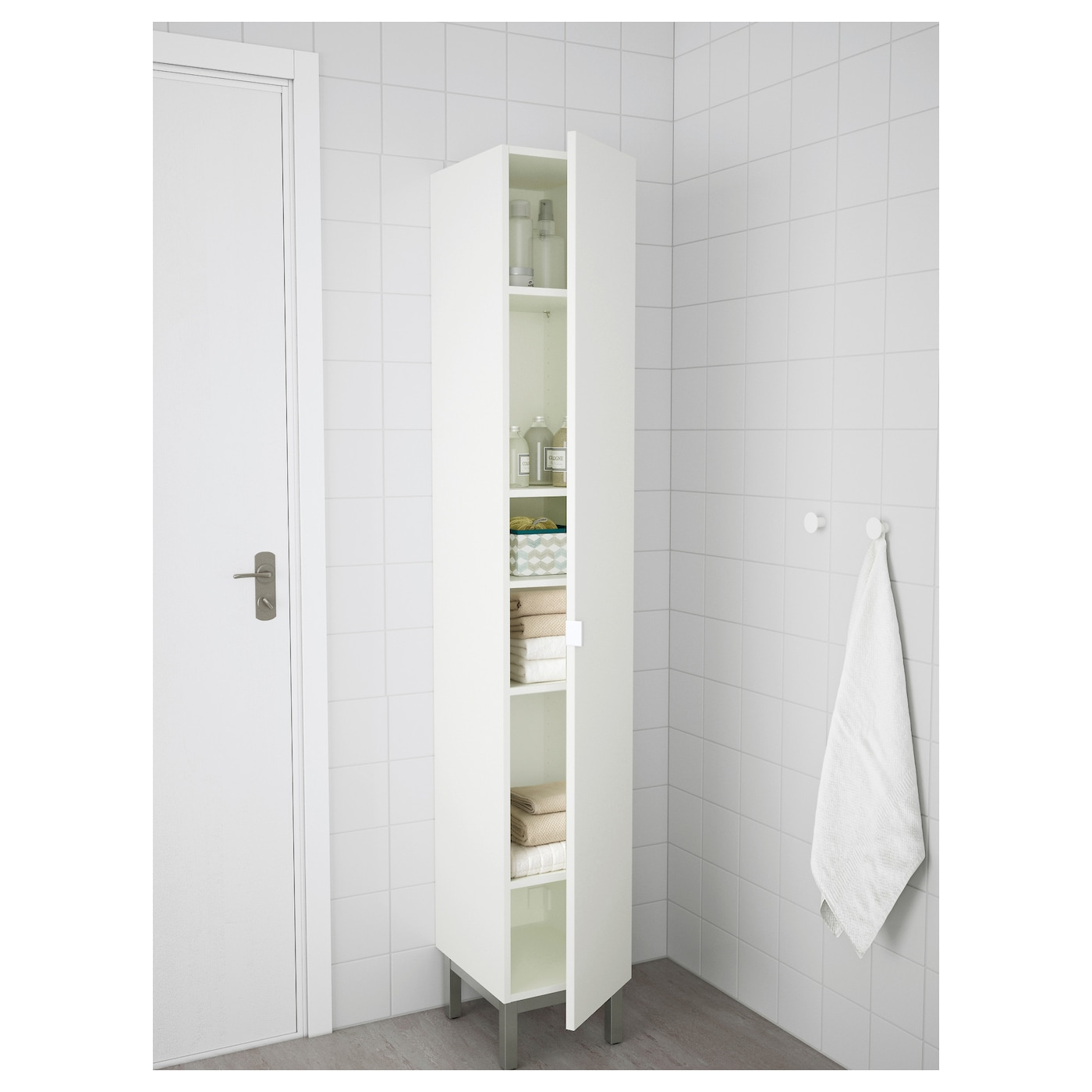 "LILLÅNGEN High cabinet - white 9 9/9x9x9 9/9 "" (90x98x979 cm)"
