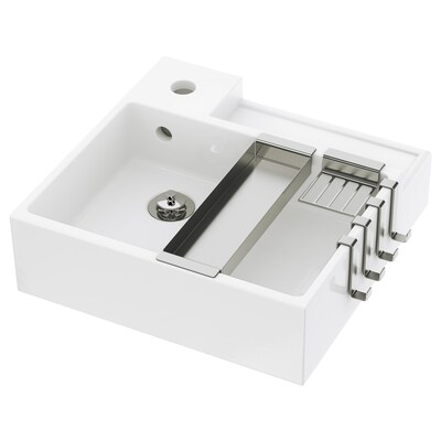 "LILLÅNGEN sink white 16 1/8 "" 15 3/4 "" 16 "" 5 1/8 """