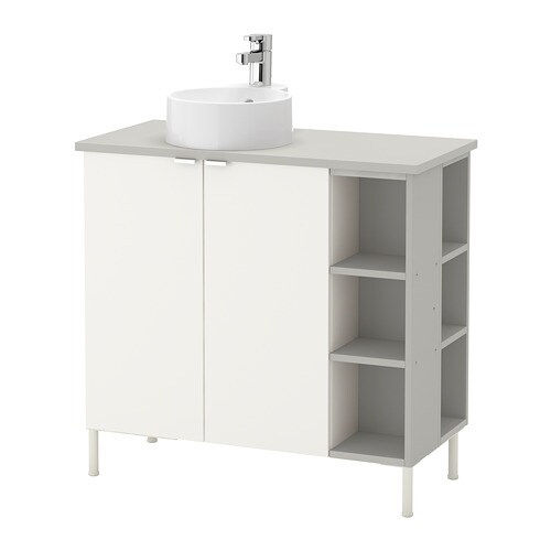 Lill ngen viskan gutviken sink cabinet 2 doors 2 end for Vanite salle de bain ikea