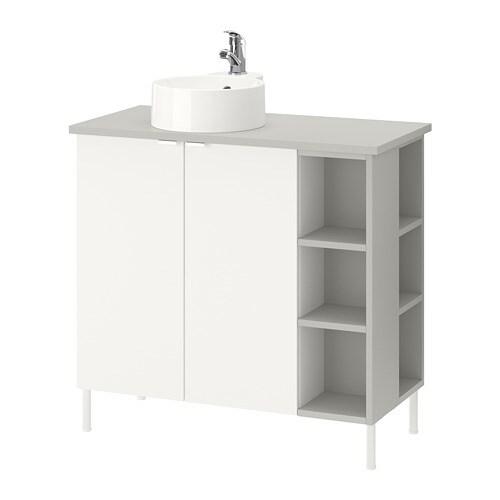 lill ngen viskan gutviken sink cabinet 2 doors 2 end units white gray 82x40x87 cm ikea. Black Bedroom Furniture Sets. Home Design Ideas