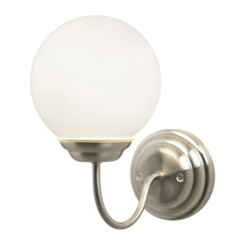 LILLHOLMEN Wall lamp   Flexible; can be mounted with the light turned downwards or upwards.