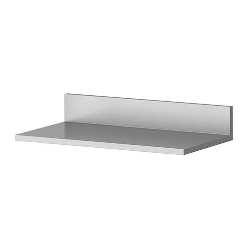 LIMHAMN Wall shelf   Shelf in stainless steel; hygienic, strong and durable surface that is easy to clean.