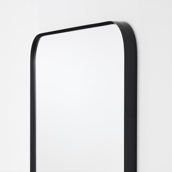 LINDBYN Mirror, black, 15 3/4x51 1/8 ""