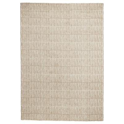 """LINDELSE Rug, high pile, natural/beige, 5 ' 7 """"x7 ' 10 """""""