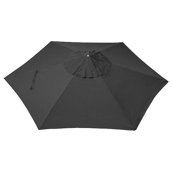 """LINDÖJA Umbrella canopy, black, 118 1/8 """""""