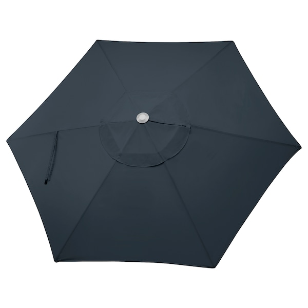 LINDÖJA Umbrella canopy, dark blue, 118 1/8 ""