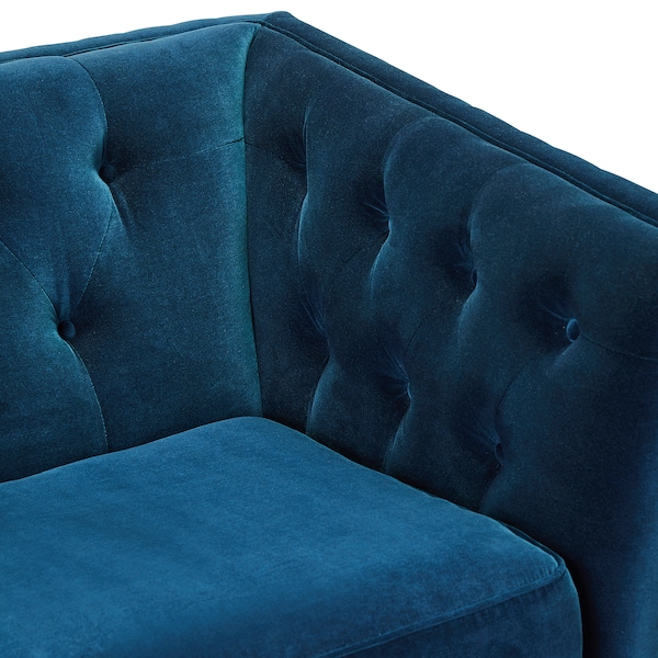 "LINDOME sofa Djuparp dark green-blue 15 "" 92 1/2 "" 35 "" 29 7/8 "" 5 1/8 "" 24 3/4 "" 78 3/4 "" 22 "" 15 3/4 """