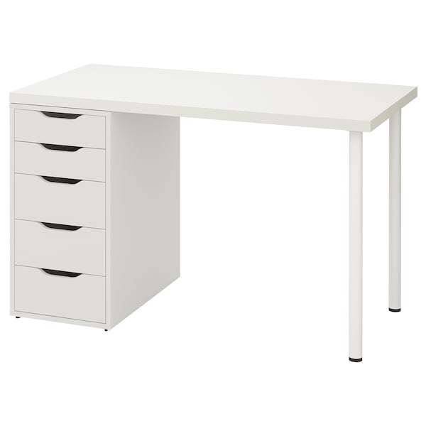 LINNMON / ALEX Table, white, 47 1/4x23 5/8 ""