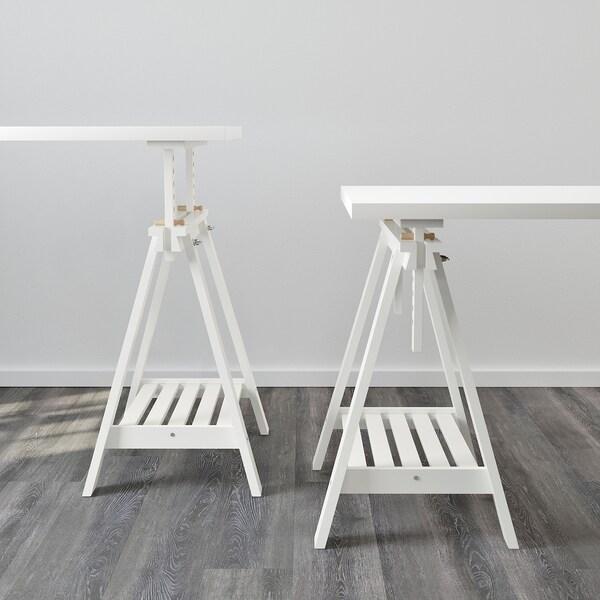 """LINNMON / FINNVARD table white 59 """" 29 1/2 """" 110 lb 4 oz"""