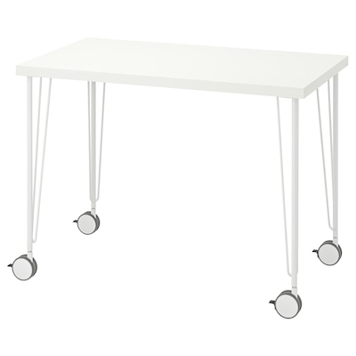 LINNMON / KRILLE Desk, white, 39 3/8x23 5/8 ""