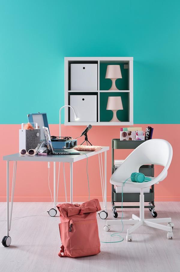 """LINNMON / KRILLE Desk, white, 39 3/8x23 5/8 """""""