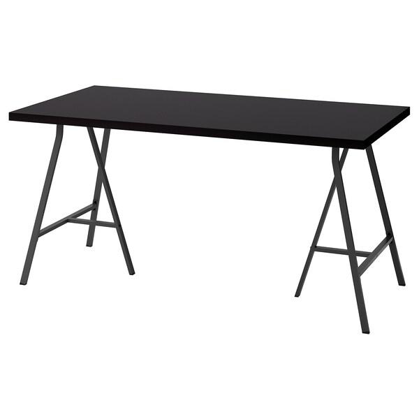 "LINNMON / LERBERG table black-brown/gray 59 "" 29 1/2 "" 29 1/8 "" 110 lb 4 oz"