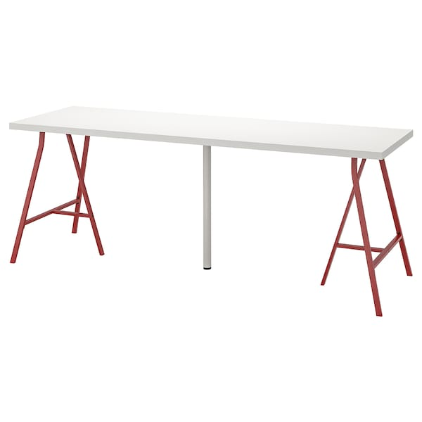 """LINNMON / LERBERG table white/red 78 3/4 """" 23 5/8 """" 29 1/8 """" 110 lb 4 oz"""