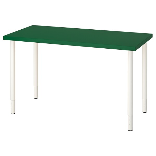 "LINNMON / OLOV Table, green/white, 47 1/4x23 5/8 """
