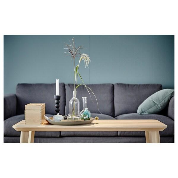 "LISABO Coffee table, ash veneer, 46 1/2x19 5/8 """