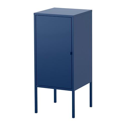 LIXHULT Cabinet - metal/dark blue - IKEA