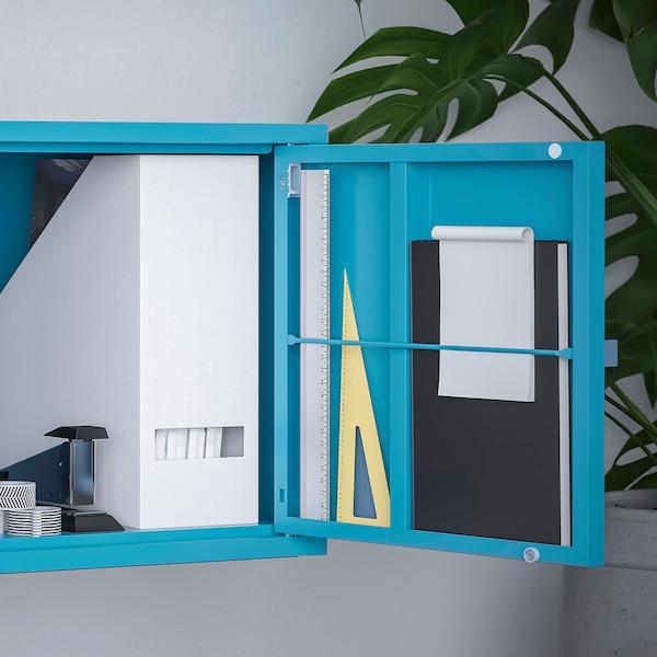 "LIXHULT Cabinet, metal/blue, 13 3/4x13 3/4 """