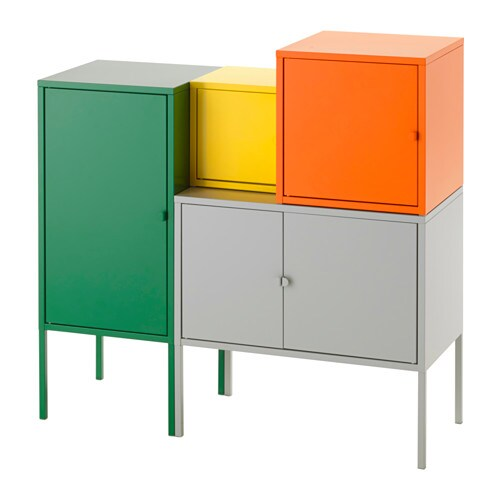 lixhult storage combination green gray orange yellow ikea. Black Bedroom Furniture Sets. Home Design Ideas