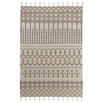 """LÖNSTRUP Rug, handmade/white/brown, 5 ' 3 """"x7 ' 7 """""""