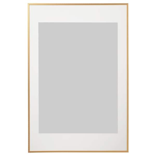 """LOMVIKEN Frame, gold-colour, 24x35 ¾ """""""