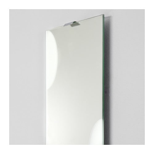 LUNDAMO Mirror   The mirror can be hung vertically or horizontally to suit your needs and space.  Safety film  reduces damage if glass is broken.