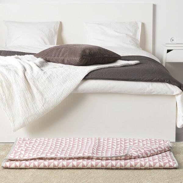 "LURVIG Blanket, pink/triangle, 39 ¼x59 """