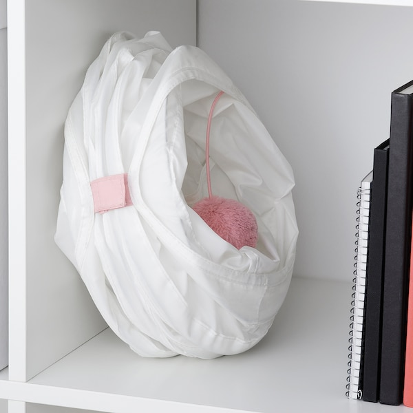 LURVIG Play tunnel for cat, white/pink