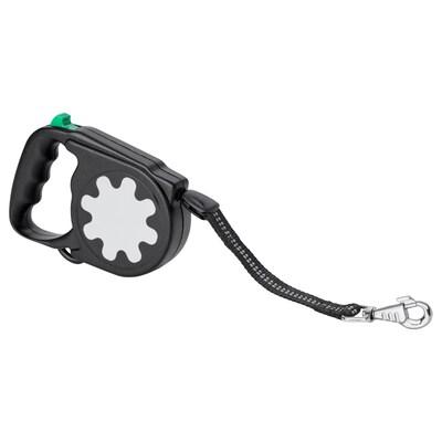 LURVIG Retractable leash, black, 55 lb