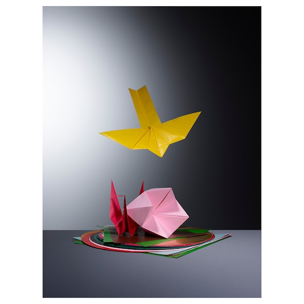 LUSTIGT Origami paper, mixed colors/mixed shapes