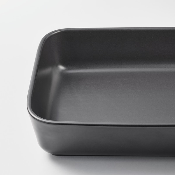 LYCKAD Oven/serving dish, set of 2, dark gray