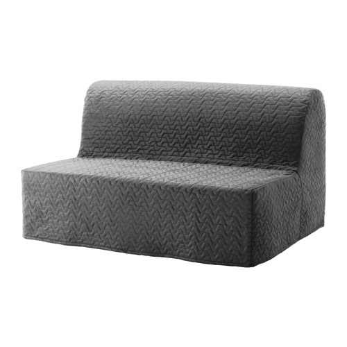 Lycksele l v s futon vallarum gray ikea for Divano futon ikea