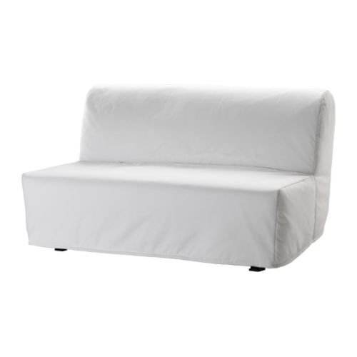 Lycksele l v s sofa bed ransta white ikea for Housse sofa ikea