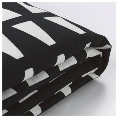 LYCKSELE Sofa-bed cover, Ebbarp black/white