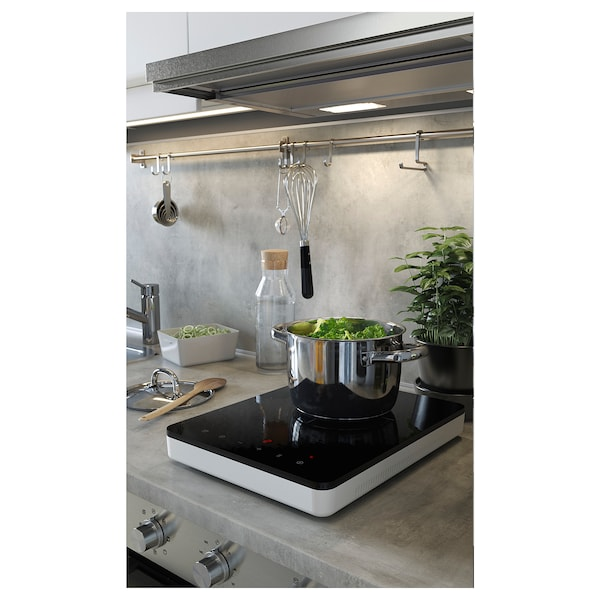 Lysekil Wall Panel White Double Sided Light Gray Concrete Effect