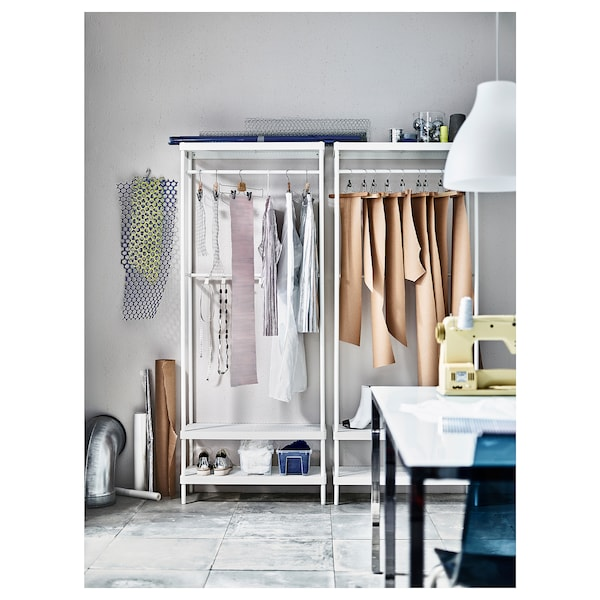 "MACKAPÄR coat rack with shoe storage unit white 30 3/4 "" 12 5/8 "" 76 """