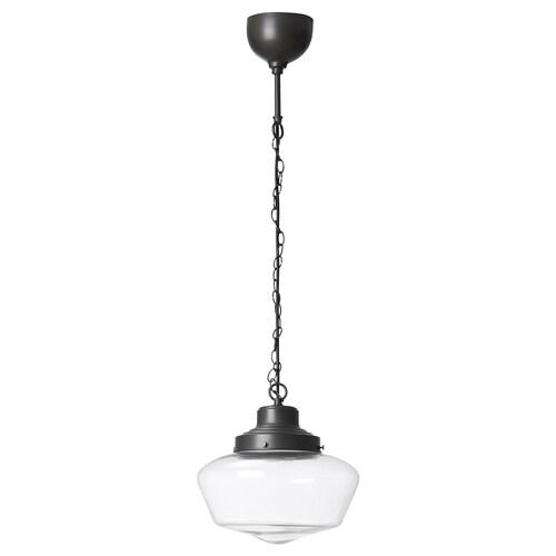 "MAGLARP pendant lamp bronze color/glass 13 W 12 """