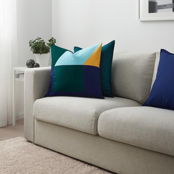 "MAJALISA cushion cover blue/green/yellow 20 "" 20 """